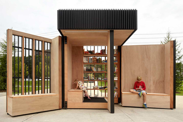 Story Pod Community Library in Toronto by Atelier Kastelic Buffey | Yellowtrace