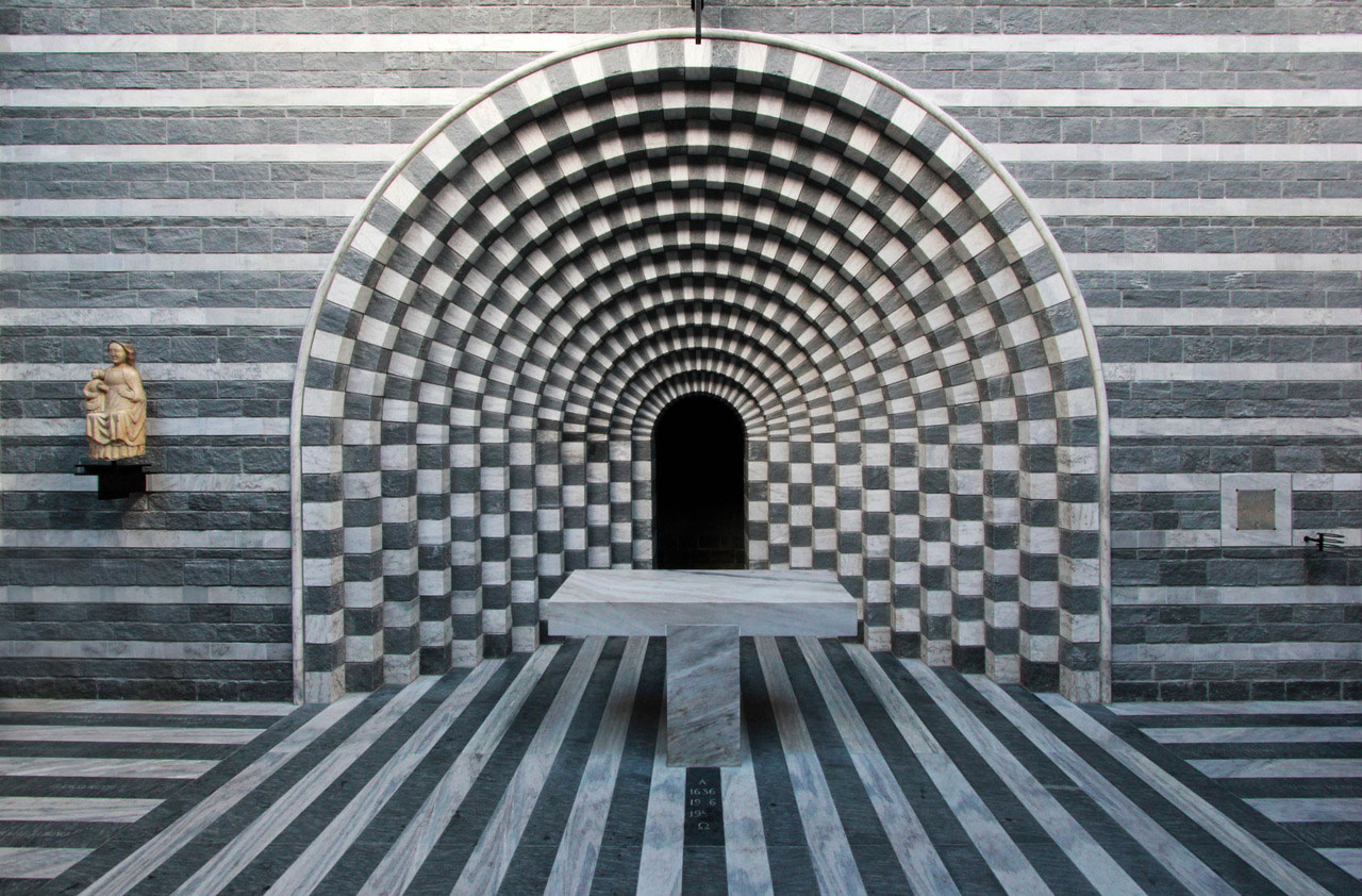 Church of San Giovanni Battista by Mario Botta Mogno, Switzerland | Yellowtrace