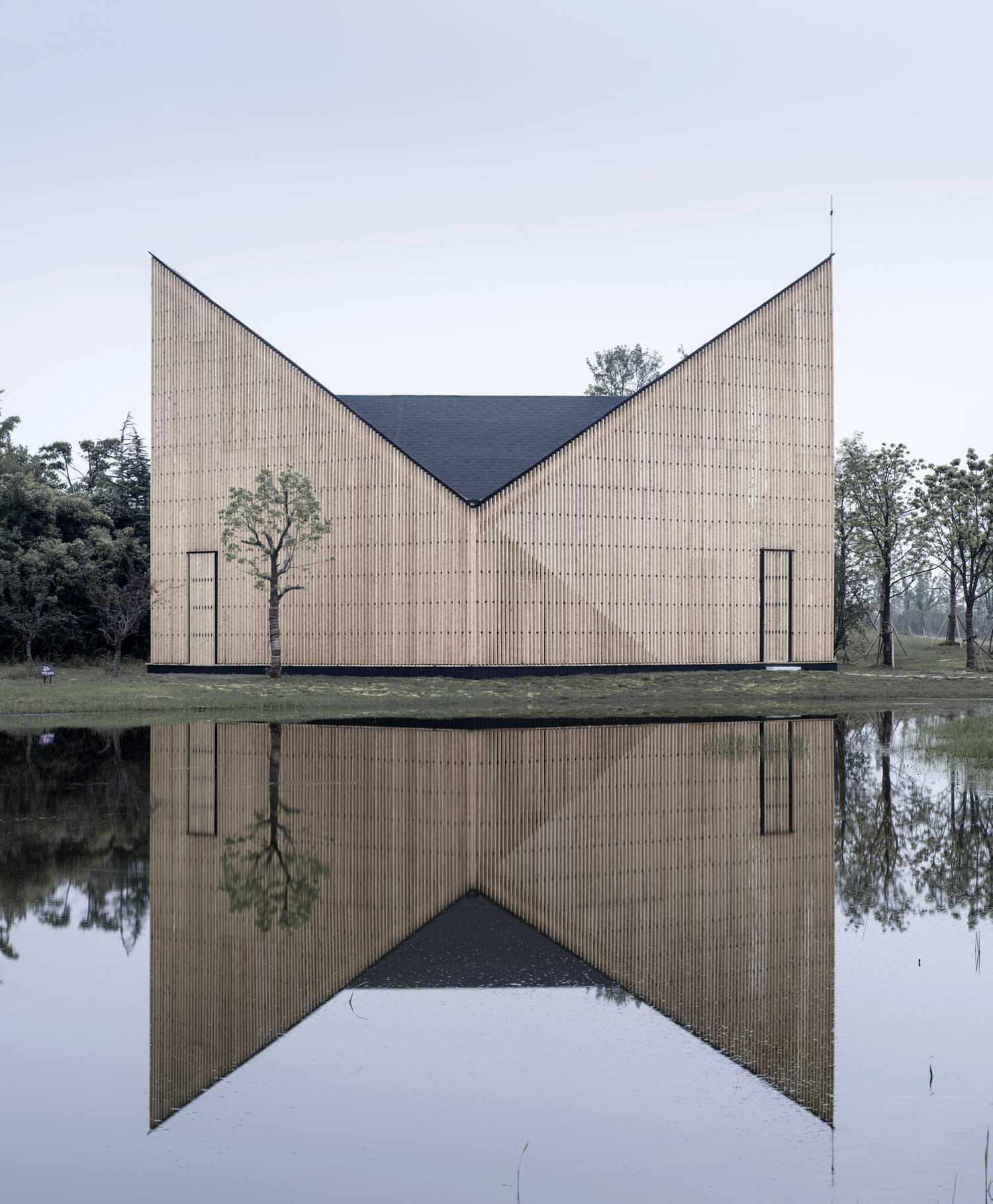 Nanjing Wanjing Garden Chapel by AZL Architects | Yellowtrace
