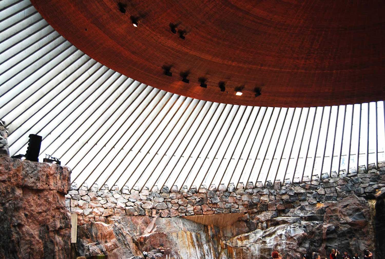 Temppeliaukio Church in Helsinki by Tuomo Suomalainen | Yellowtrace