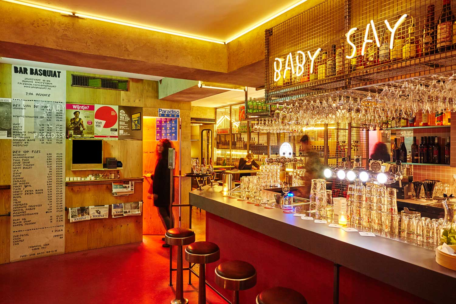 Bar Basquiat in Amsterdam by Studio Modijefsky | Yellowtrace