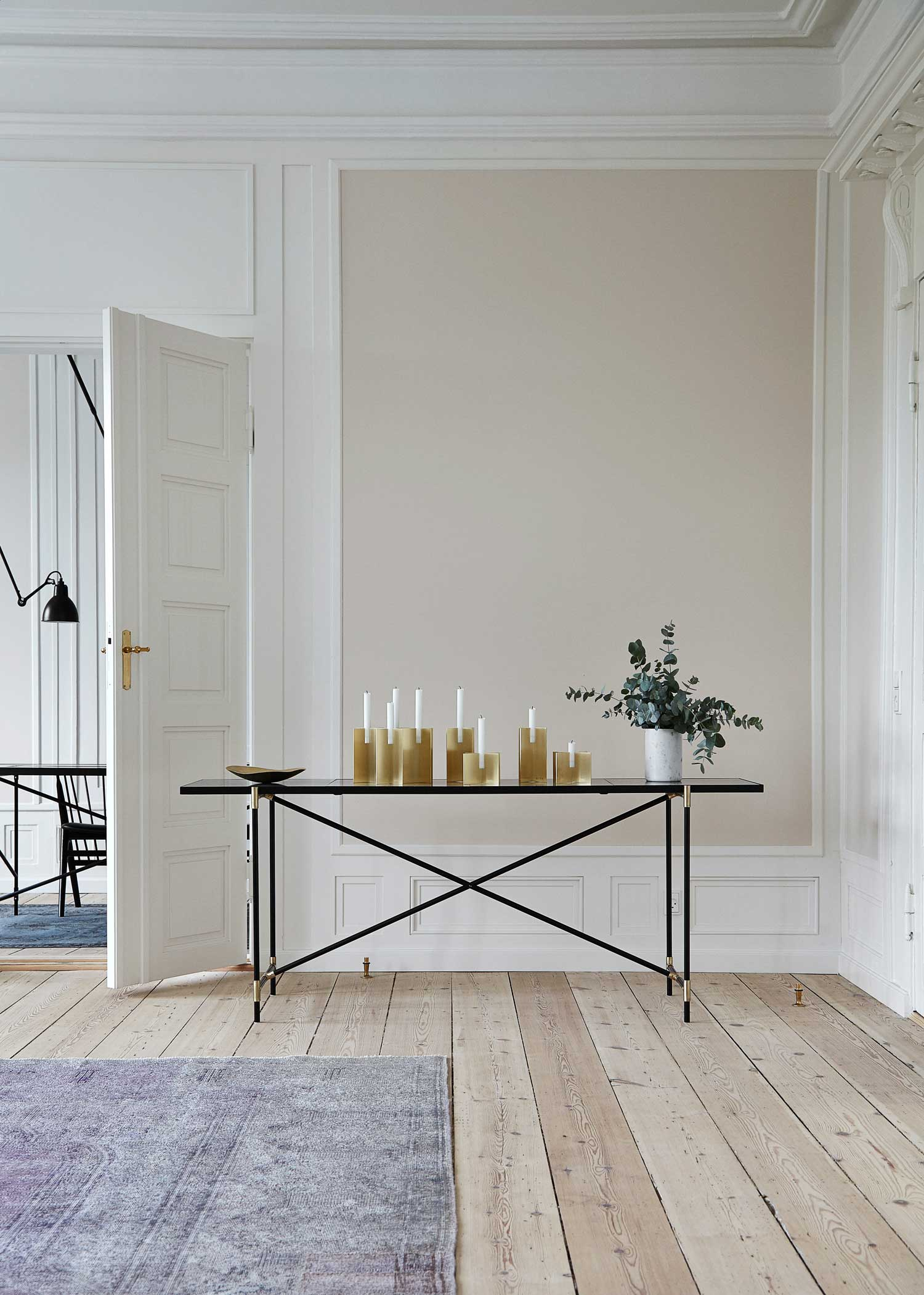 Brass console by Handvark | Yellowtrace