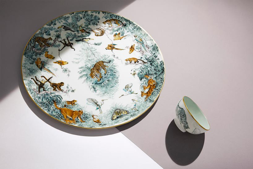 Carnets de l'Equateur Tableware Collection by Hermes | Yellowtrace
