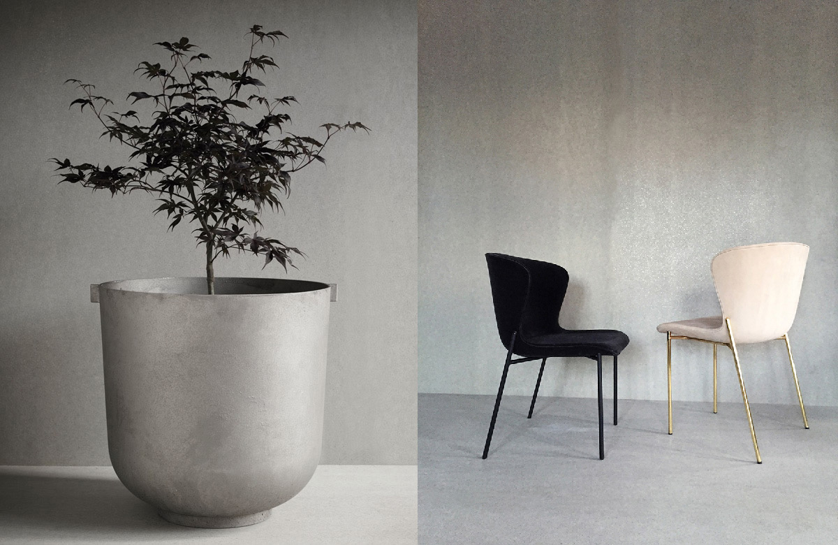 Castle Planter & La Pipe Chair by Friends & Founders | Yellowtrace