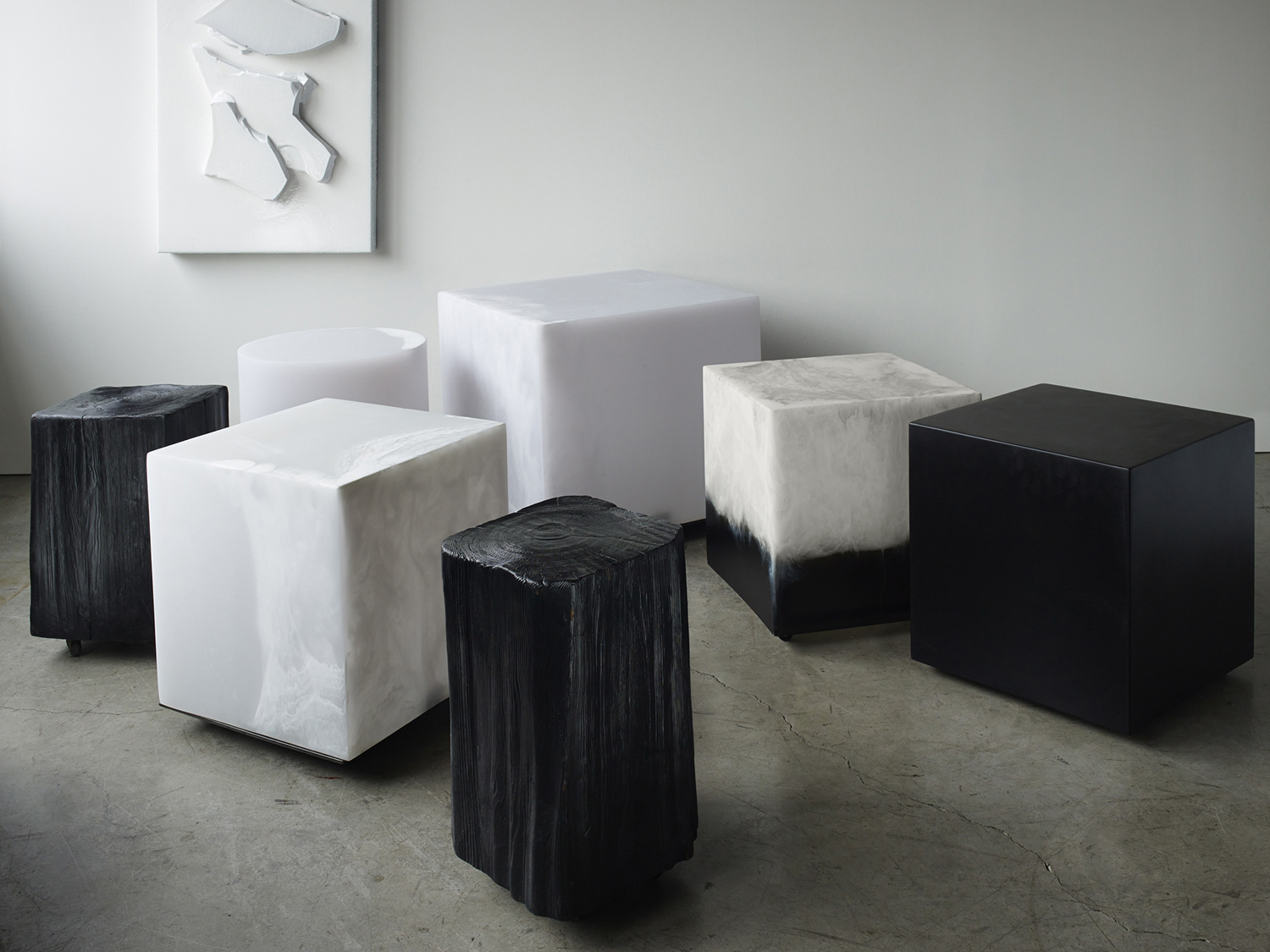 Cubes and Stools by Martha Sturdy | Yellowtrace