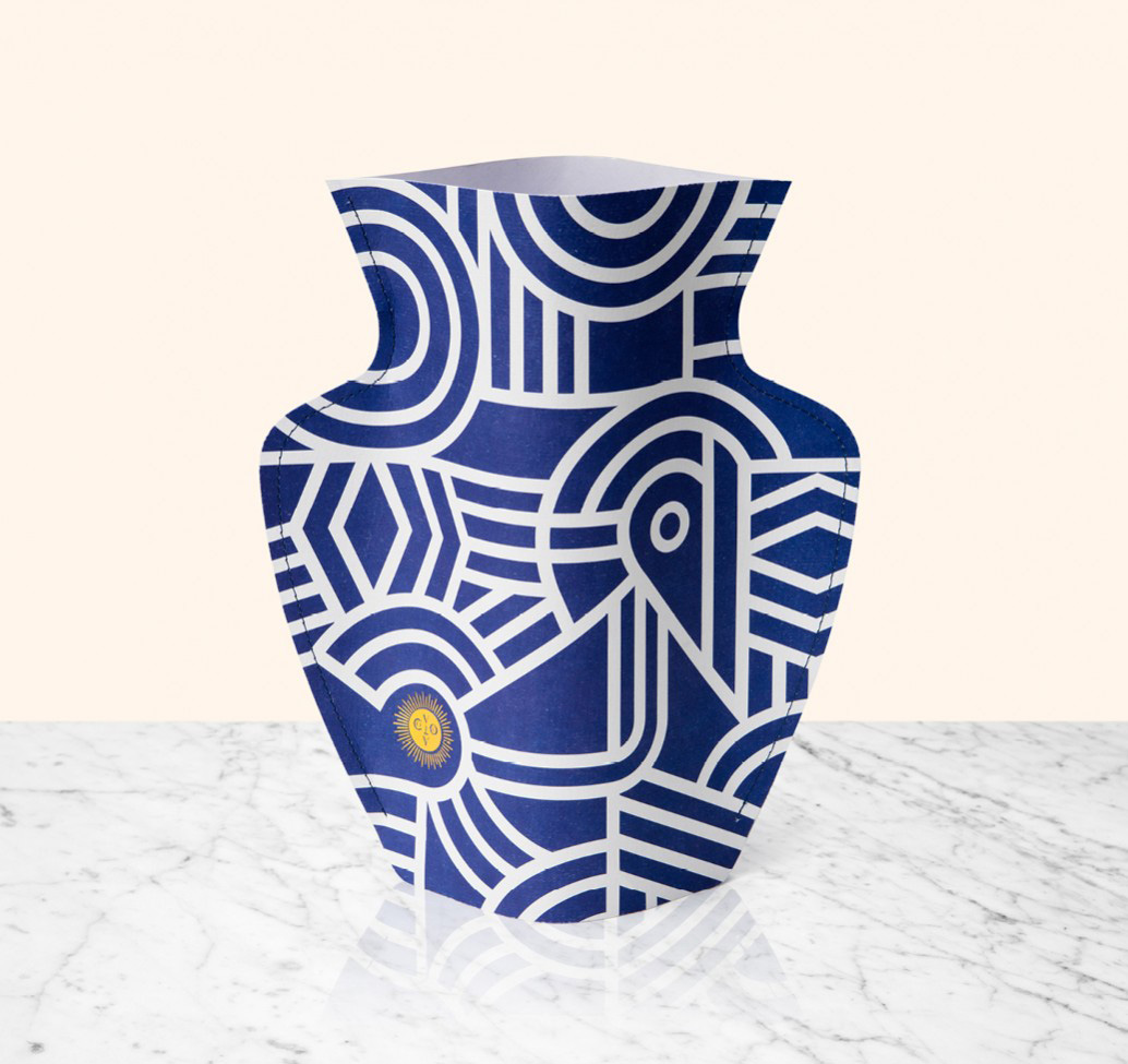 Florero Paper Vases Greco by Octaveo | Yellowtrace