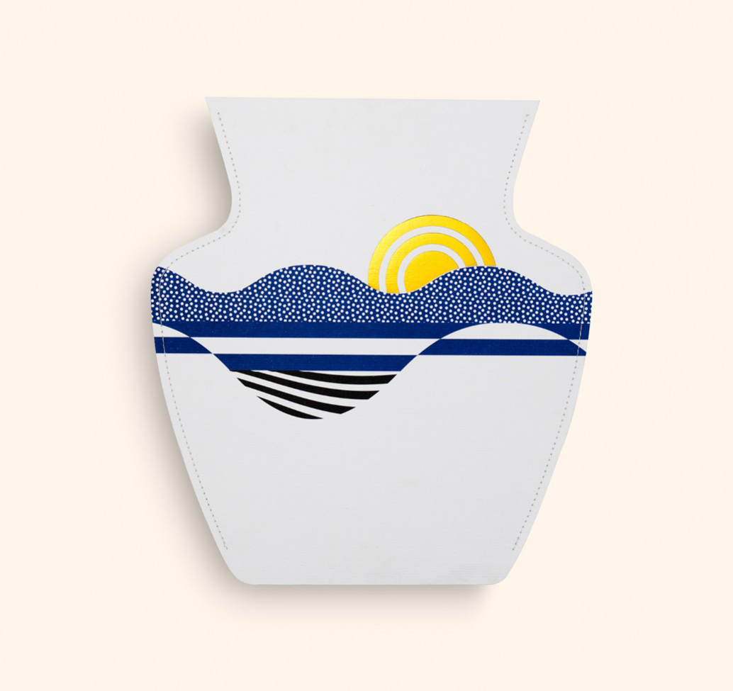 Florero Paper Vases Salina Flat by Octaveo | Yellowtrace