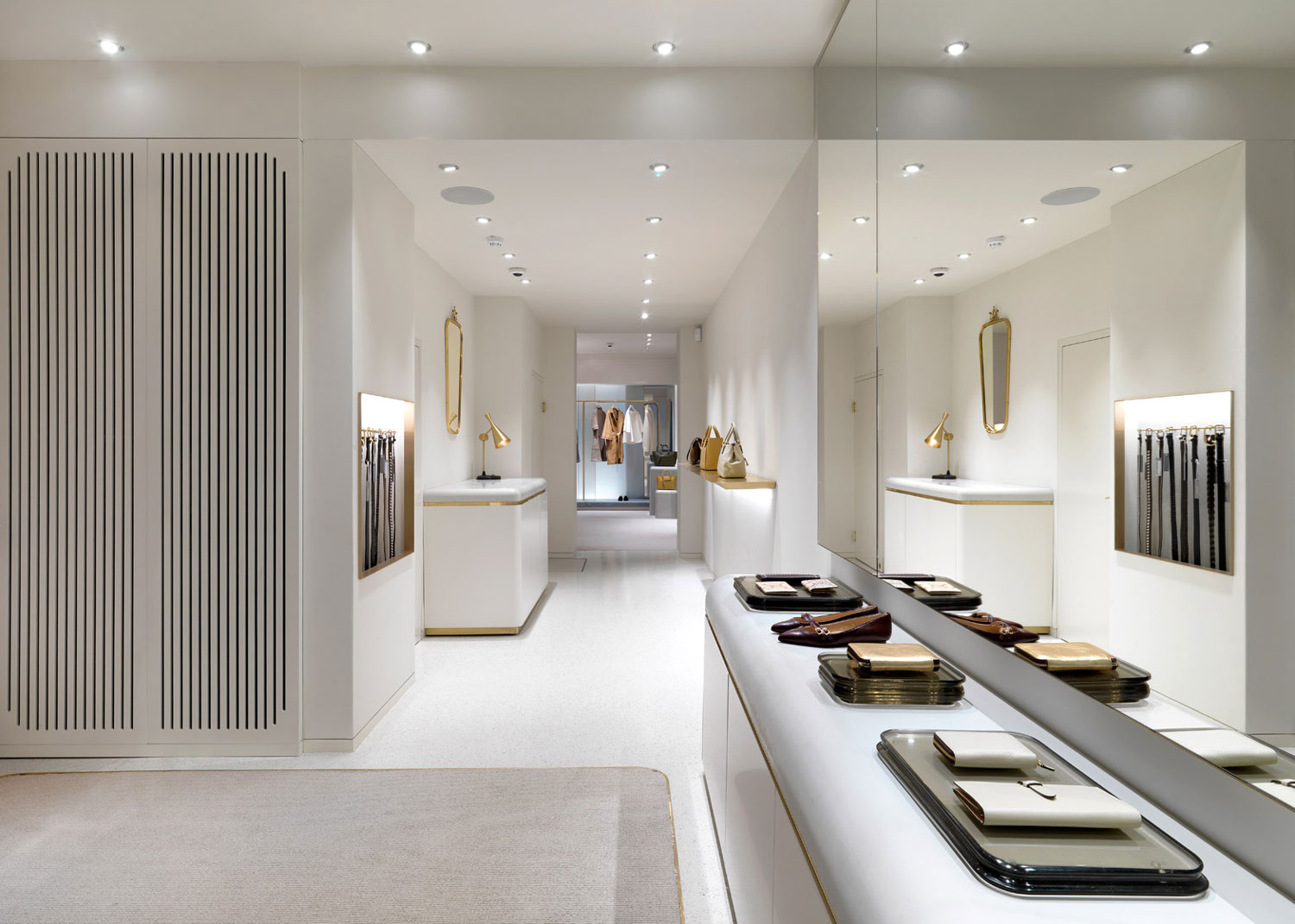 J m davidson london store by universal design studio - Studio interior design ...