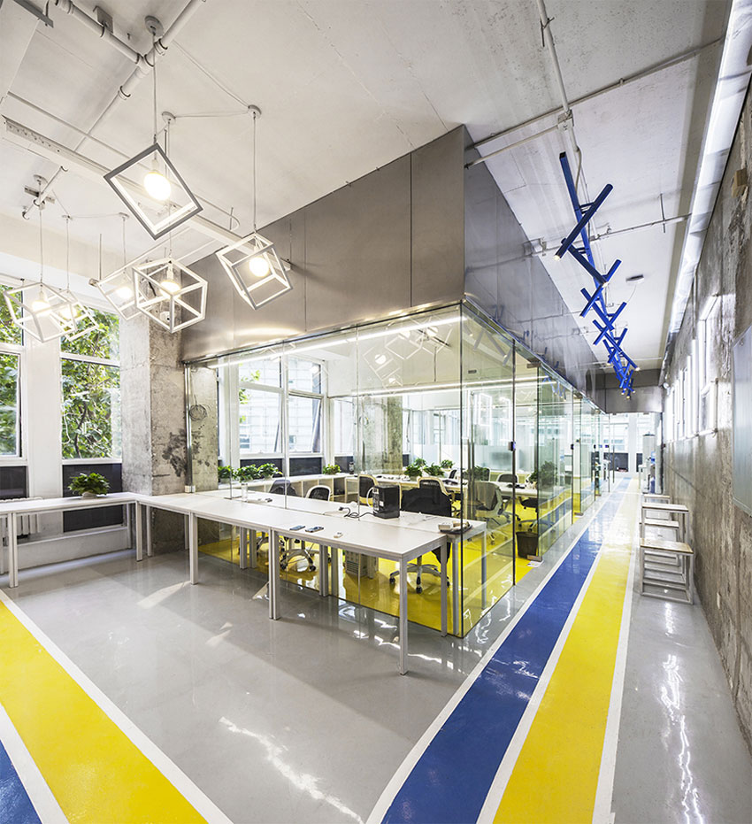 MAT Office Creates Flexible Coworking Space in Beijing | Yellowtrace