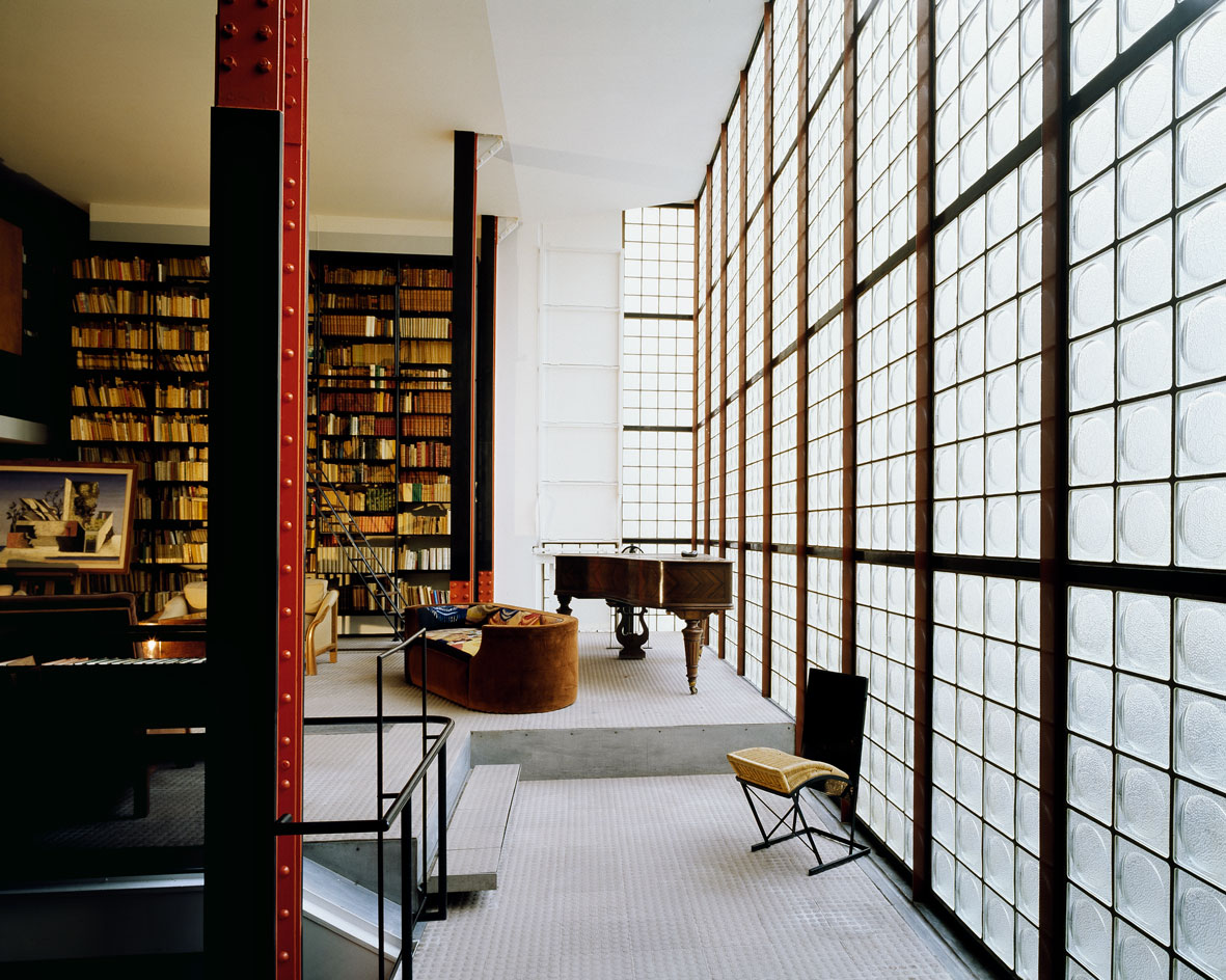 maison de verre paris by pierre chareau bernard bijvoet. Black Bedroom Furniture Sets. Home Design Ideas