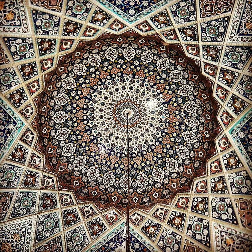 Architect Photographs Extraordinary Ceilings in Iran | Yellowtrace