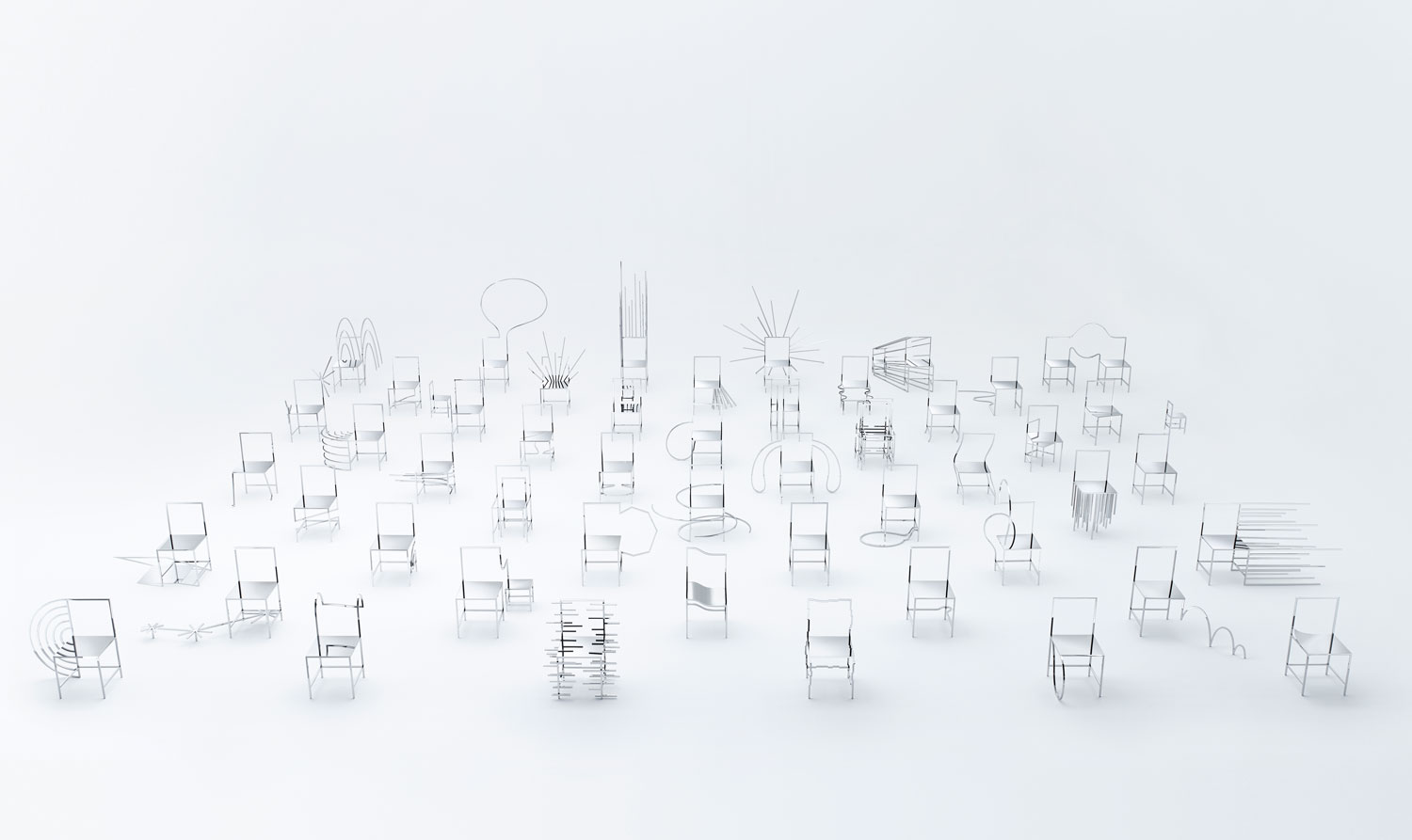 Milantrace 2016, Nendo's 50 manga chairs Salone 2016 | Yellowtrace