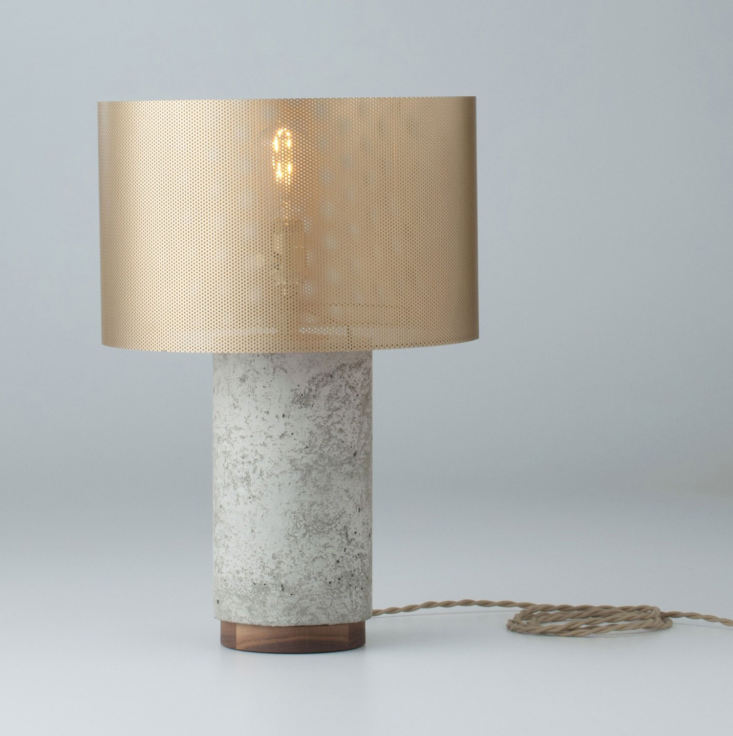 Bryant Concrete Table & Desk Lamp With Metal Shade from Schoolhouse Electric | Yellowtrace