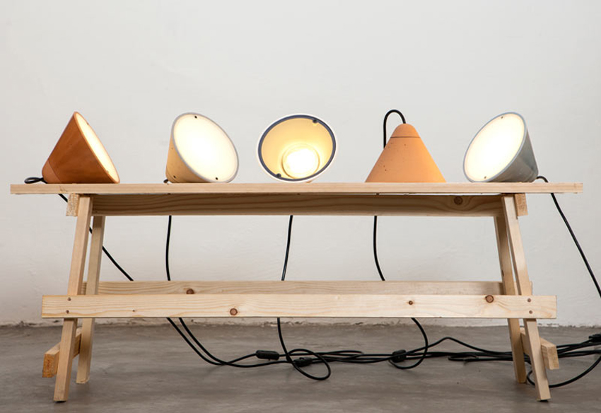 Concrete Lamps by Itai Bar On & Oded Webman | Yellowtrace