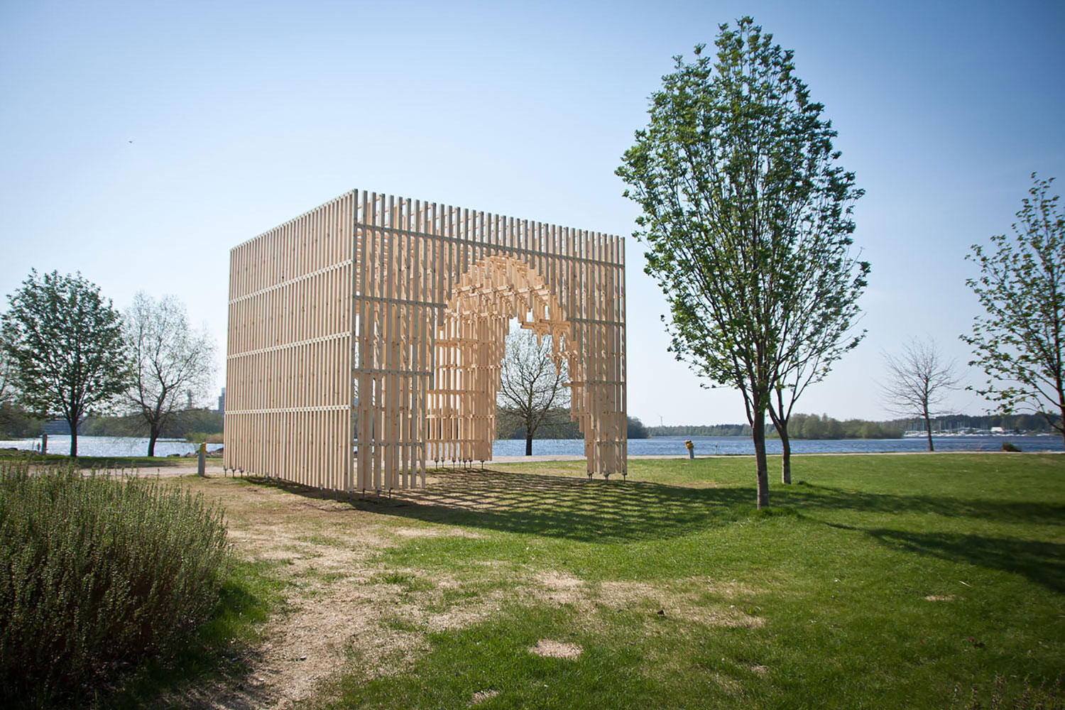 HILA Pavilion by Digiwoodlab Project + University Of Oulu Students | Yellowtrace