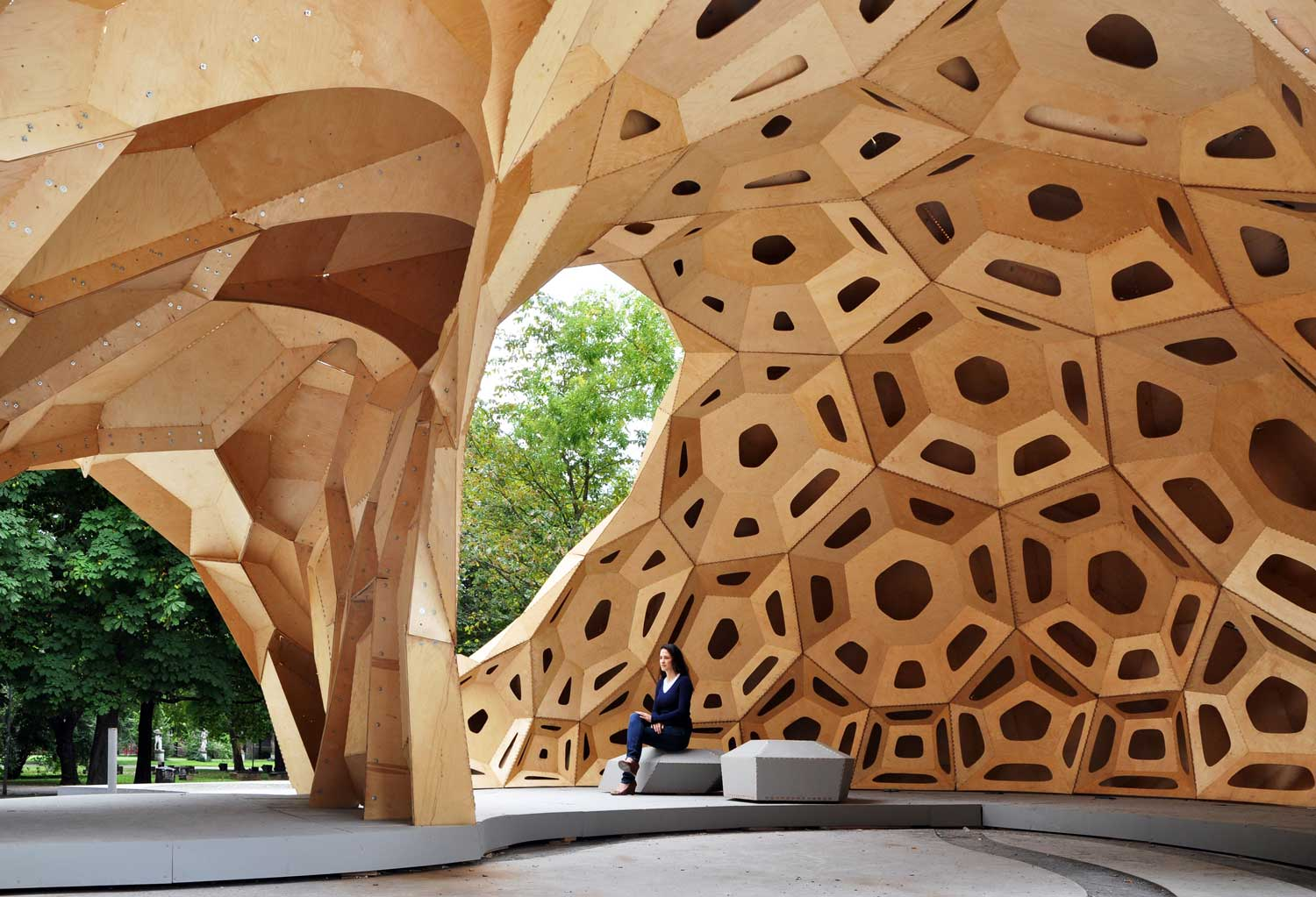 Research Pavilion by ICD ITKE | Yellowtrace