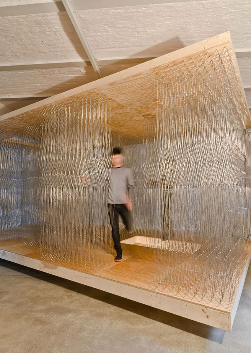 Steel Rods in Thicket Pavilion by Barkow Leibinger | Yellowtrace