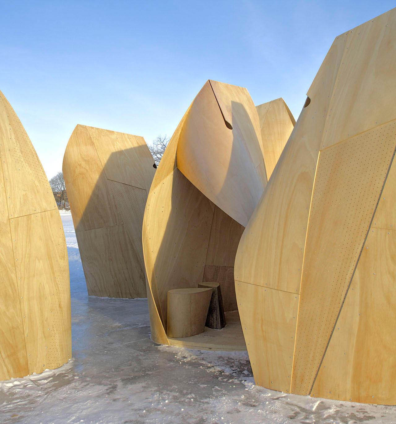 Winnipeg Skating Shelters by Patkau Architects | Yellowtrace