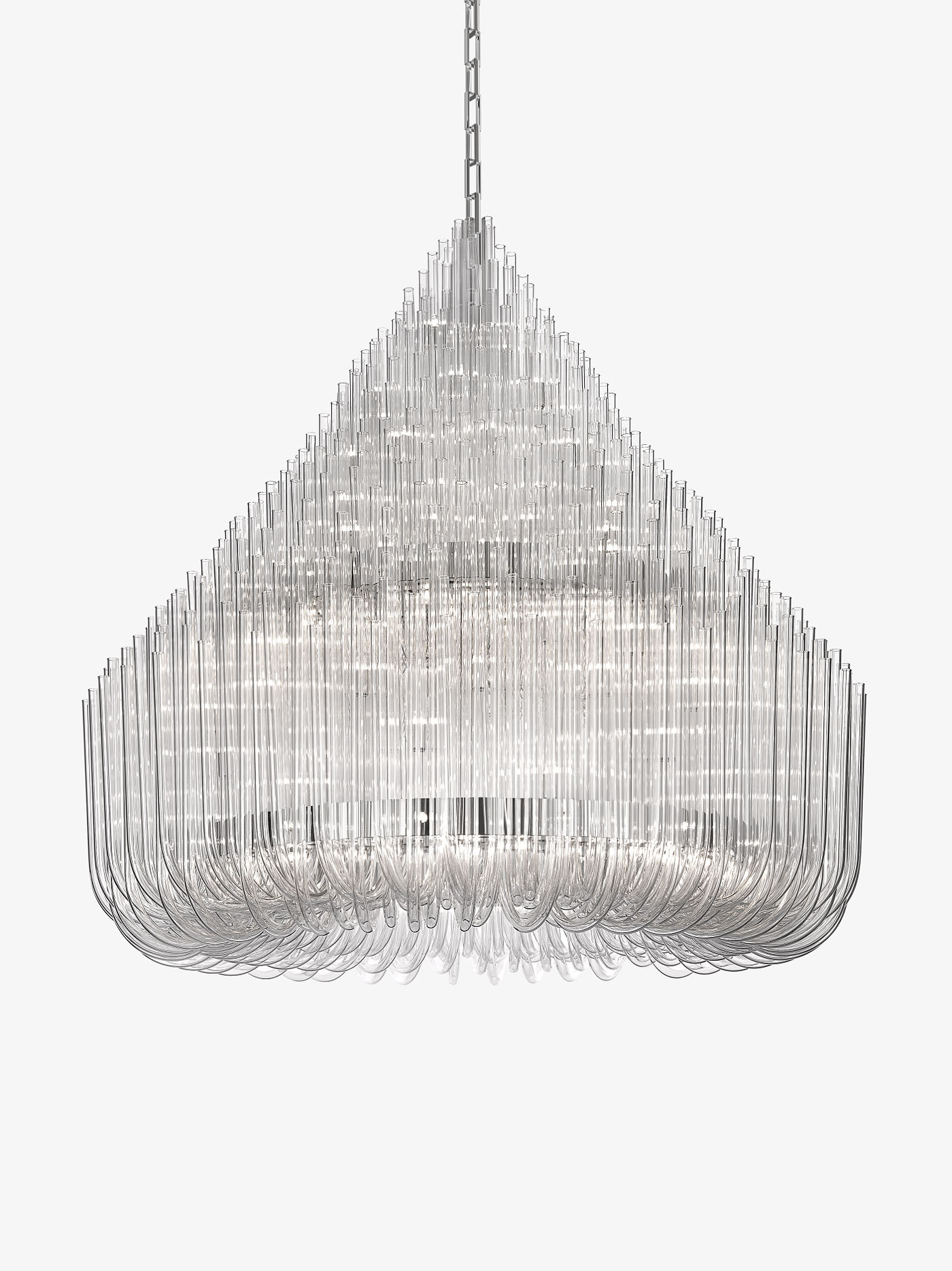Maurizio Galante Ludwig Chandelier for Lasvit | #Milantrace2016