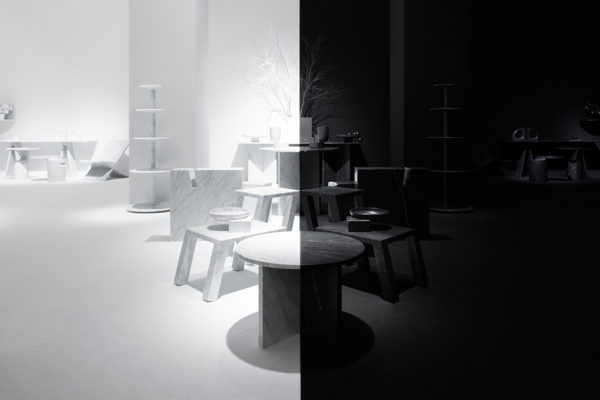 Light & Shadow Marble Furniture Collection & Exhibition by nendo for Marsotto Edizioni | Yellowtrace