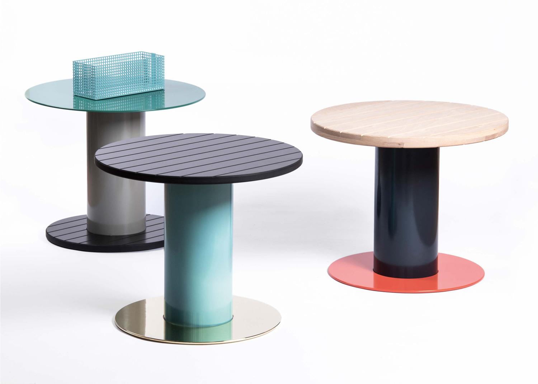 Reel Side Tables by David Derksen, Salone Satellite 2016 | #MILANTRACE2016
