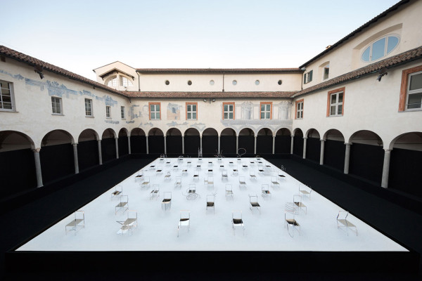 Nendo 50 Manga Chairs for Friedman Benda in Milan | Yellowtrace
