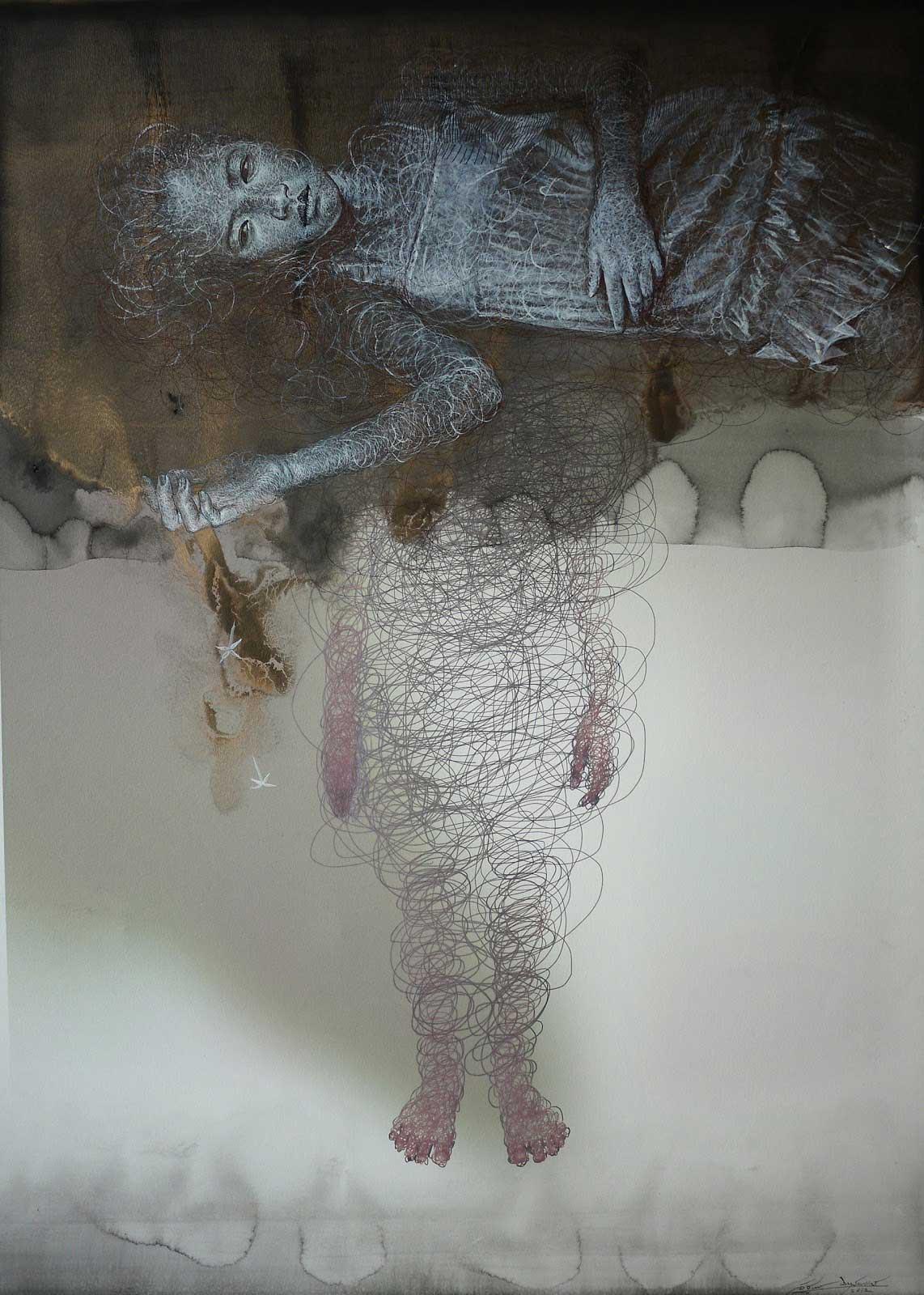 Uttaporn Nimmalaikaew 3D Paintings on Netting | Yellowtrace