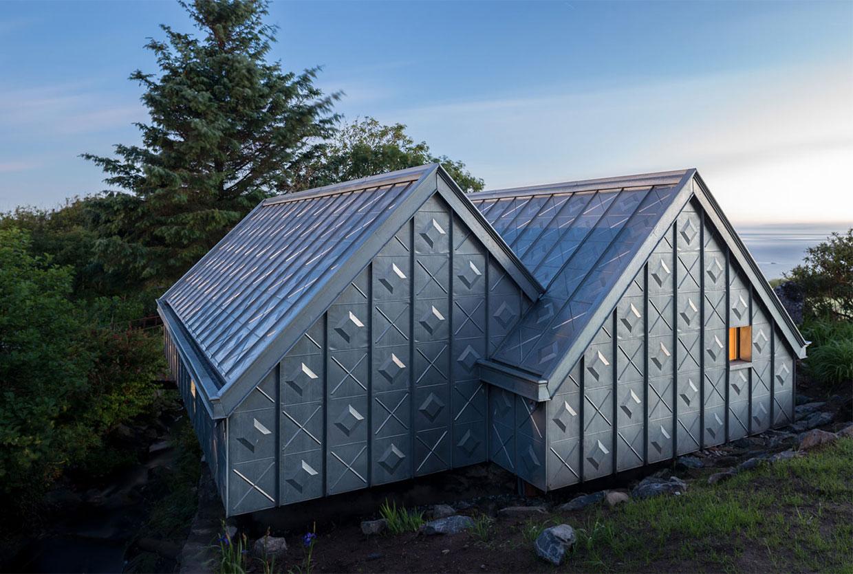 Zinc-Clad Midden Studio in Scotland by Studio Weave   Yellowtrace