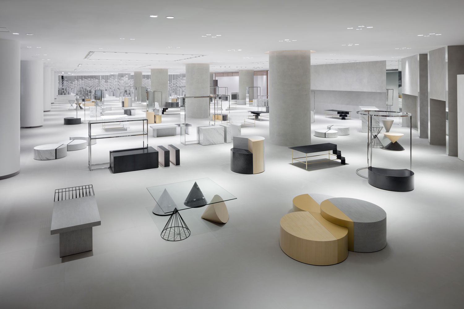 Nendo designs 39 siam discovery 39 a retail complex in bangkok for Retail interior designs