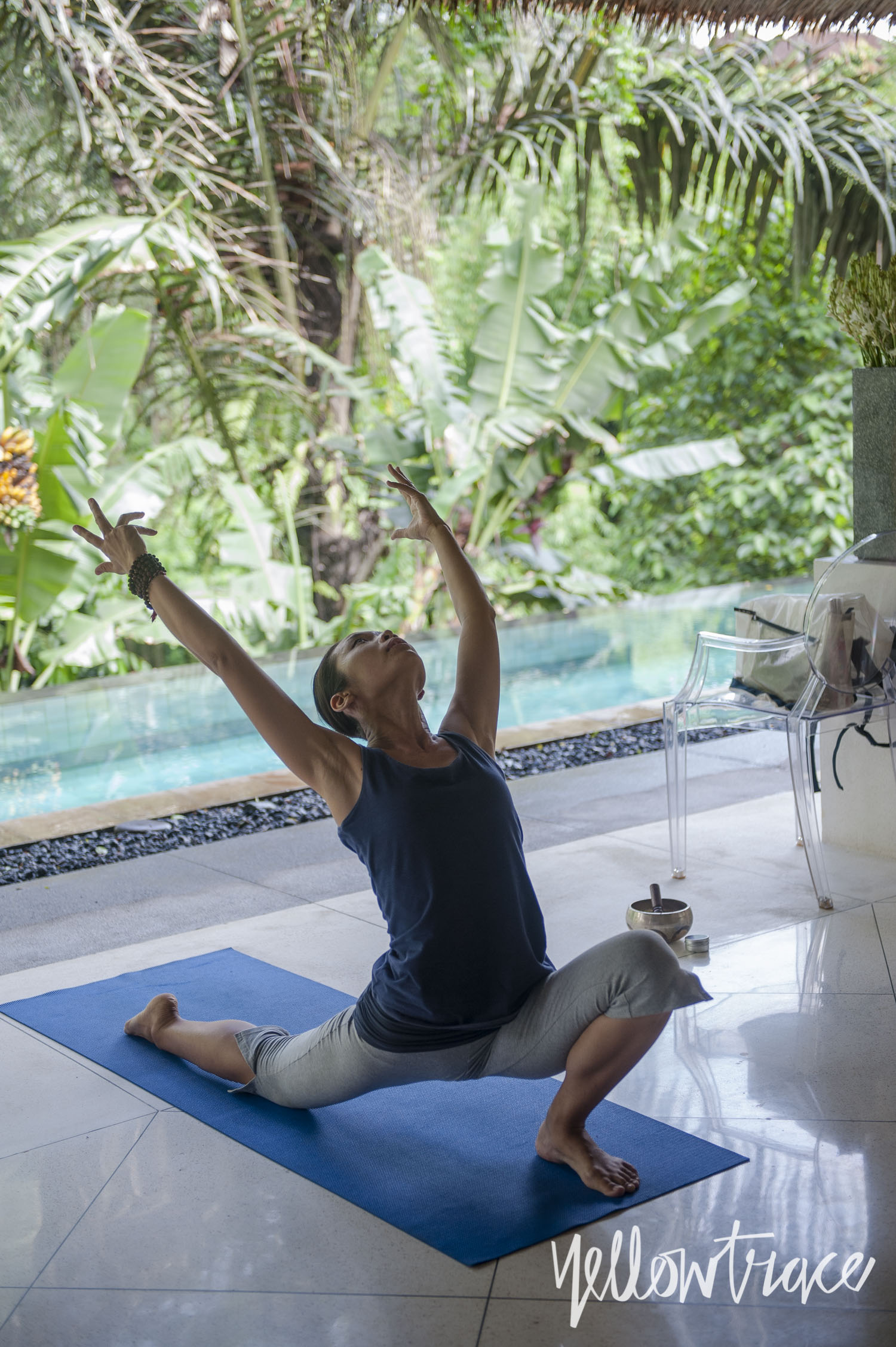 Private Yoga Class at Villa Sungai Gold, Photo © Nick Hughes | Yellowtrace