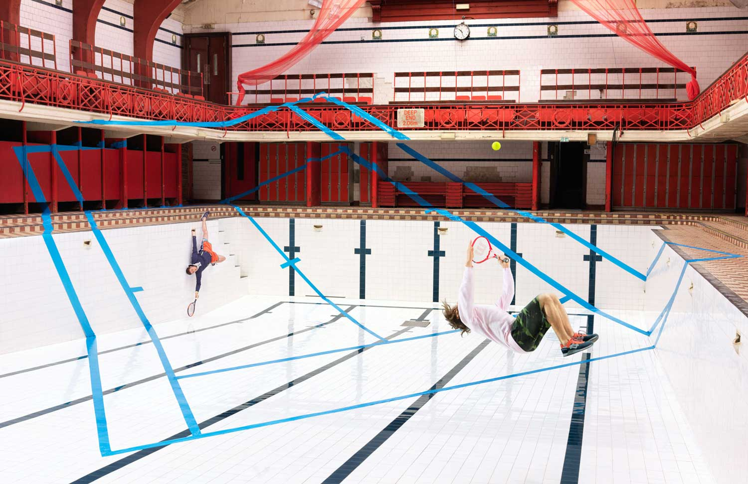 Joseph Ford Captures A Game Of Tennis In Abandoned Swimming Pool