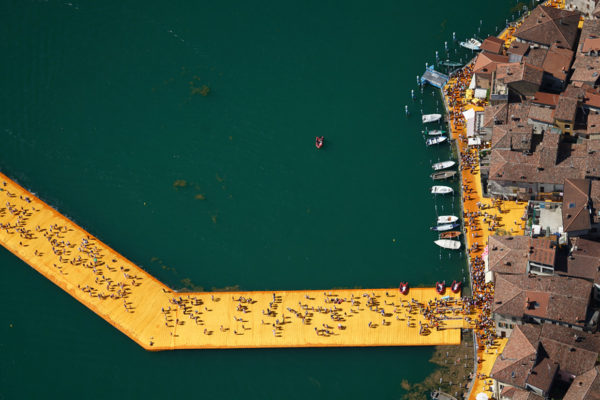 The Floating Piers at Lake Iseo, Italy by Christo & Jeanne-Claude | Yellowtrace