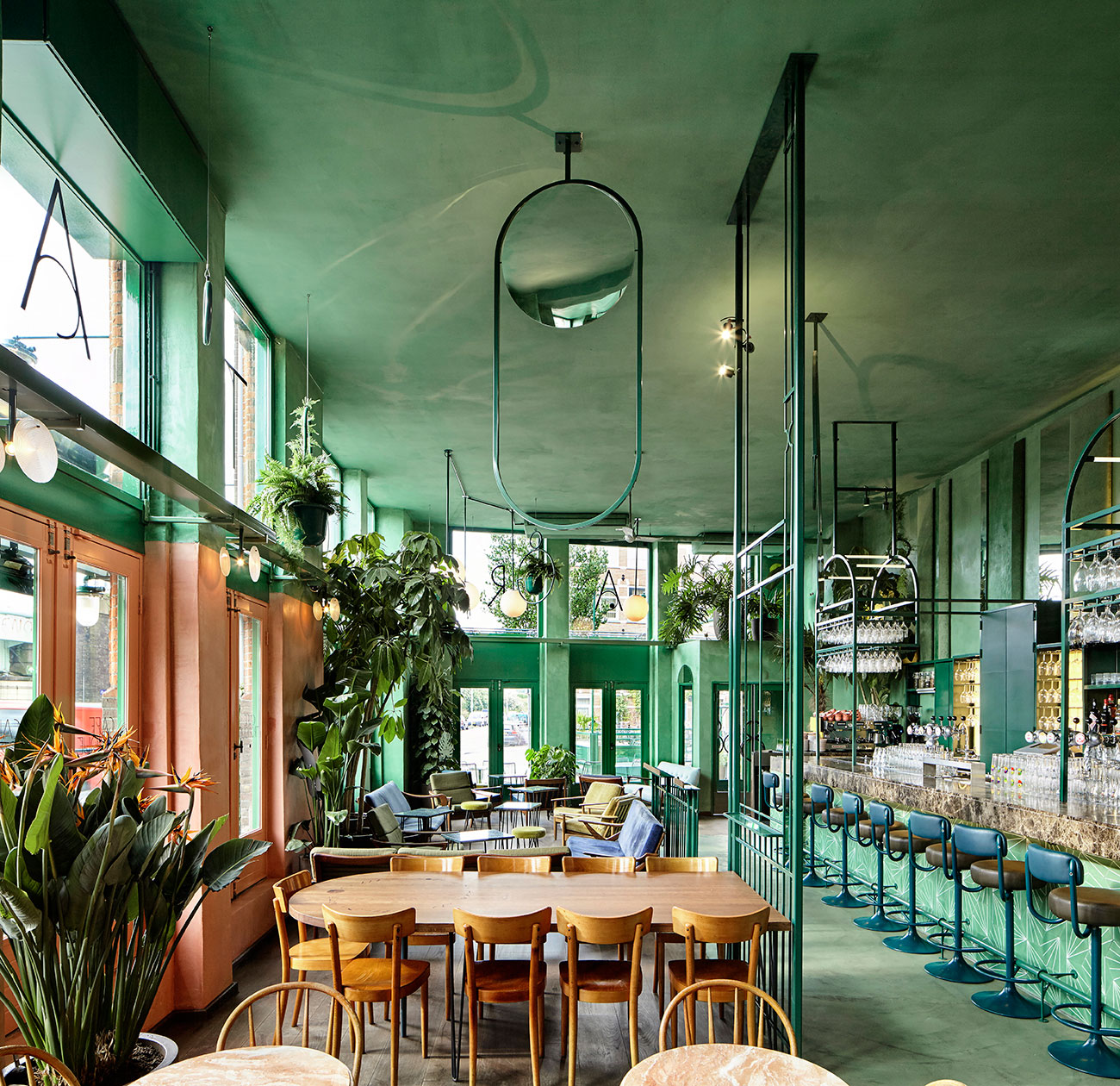 Bar Botanique in Amsterdam by Studio Modijefsky   Yellowtrace