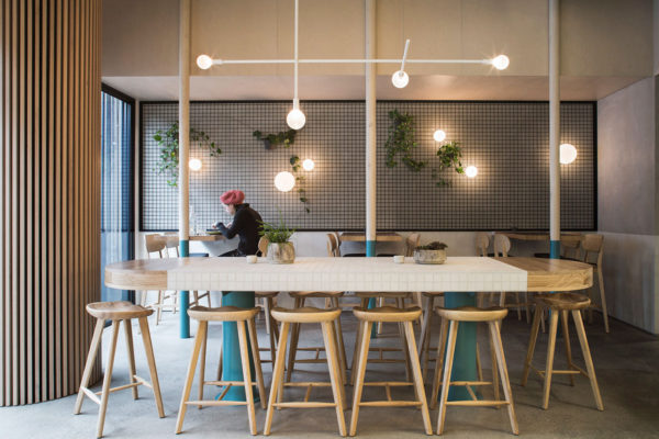 Horse on Heels Waffle Cafe by Figureground Architecture | Yellowtrace
