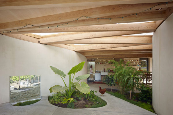 Luscious Artist Studio in Sonoma with Indoor Garden by Mork-Ulnes Architects   Yellowtrace