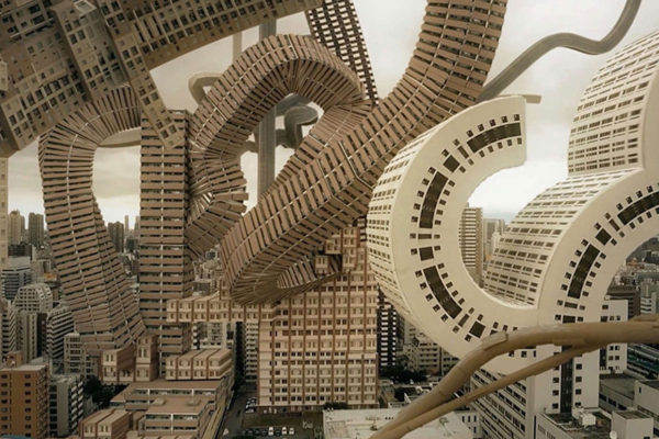 Spatial Bodies: Osaka's Skyline Transformed into a Surreal Architectural Vision | Yellowtrace