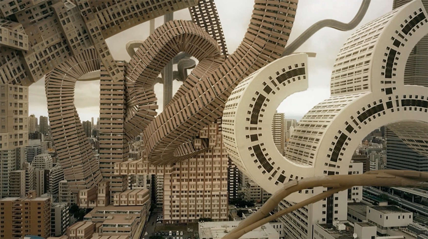 3d Design House Osaka S Skyline Transformed Into A Surreal Architectural