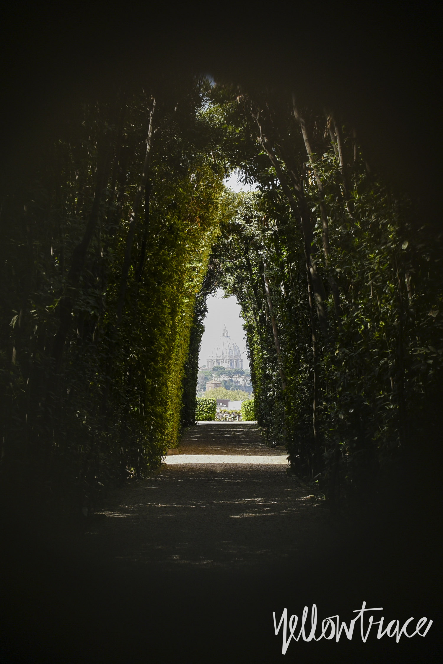 The Aventine Keyhole view of Vatican, Photo © Nick Hughes | Yellowtrace