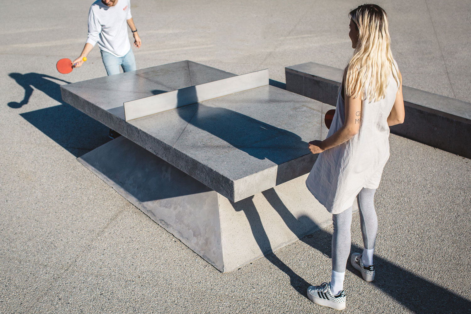 Concrete Ping Pong Tables By Murray Barker Amp Laith Mcgregor