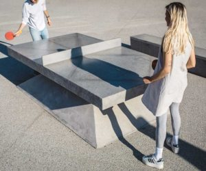 Concrete Ping Pong Tables by Murray Barker & Laith McGregor   Yellowtrace