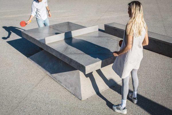 Concrete Ping Pong Tables by Murray Barker & Laith McGregor | Yellowtrace
