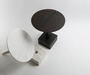 Nail Shaped Side Tables by Richard Yasmine   Yellowtrace