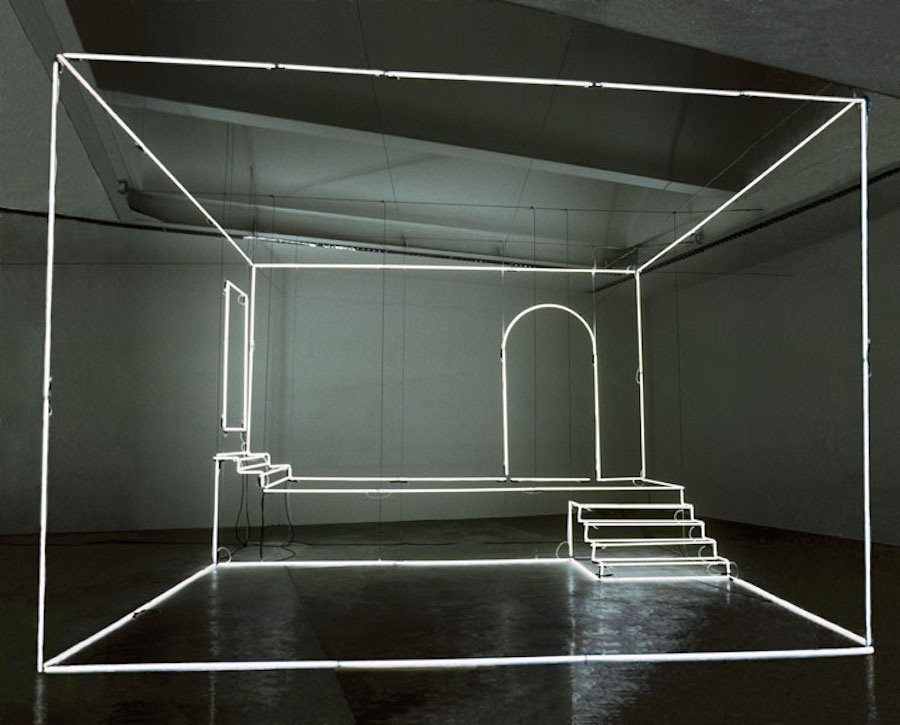 Neon Light Installation by Massimo Uberti | Yellowtrace