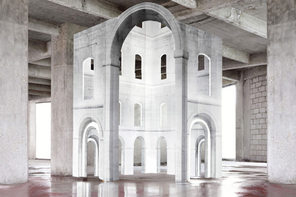 Surreal Architectural Assemblages by Noemi Goudal | Yellowtrace