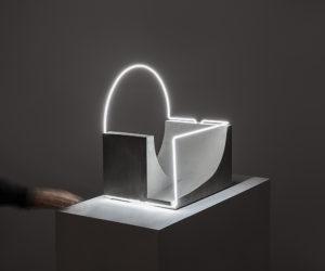 Morgane Tschiember's Fluorescent Lighting Sculptures | Yellowtrace