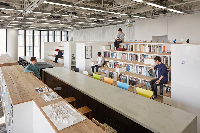 Nikken Space Design's Osaka Office   Yellowtrace