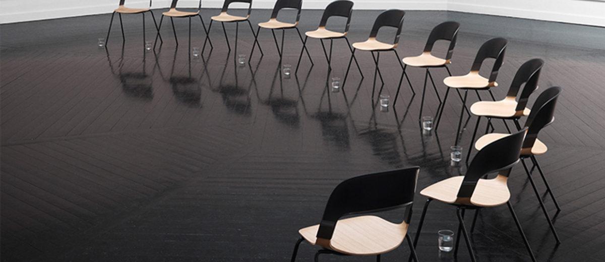Pair Chair by Benjamin Hubert of LAYER for Fritz Hansen | Yellowtrace