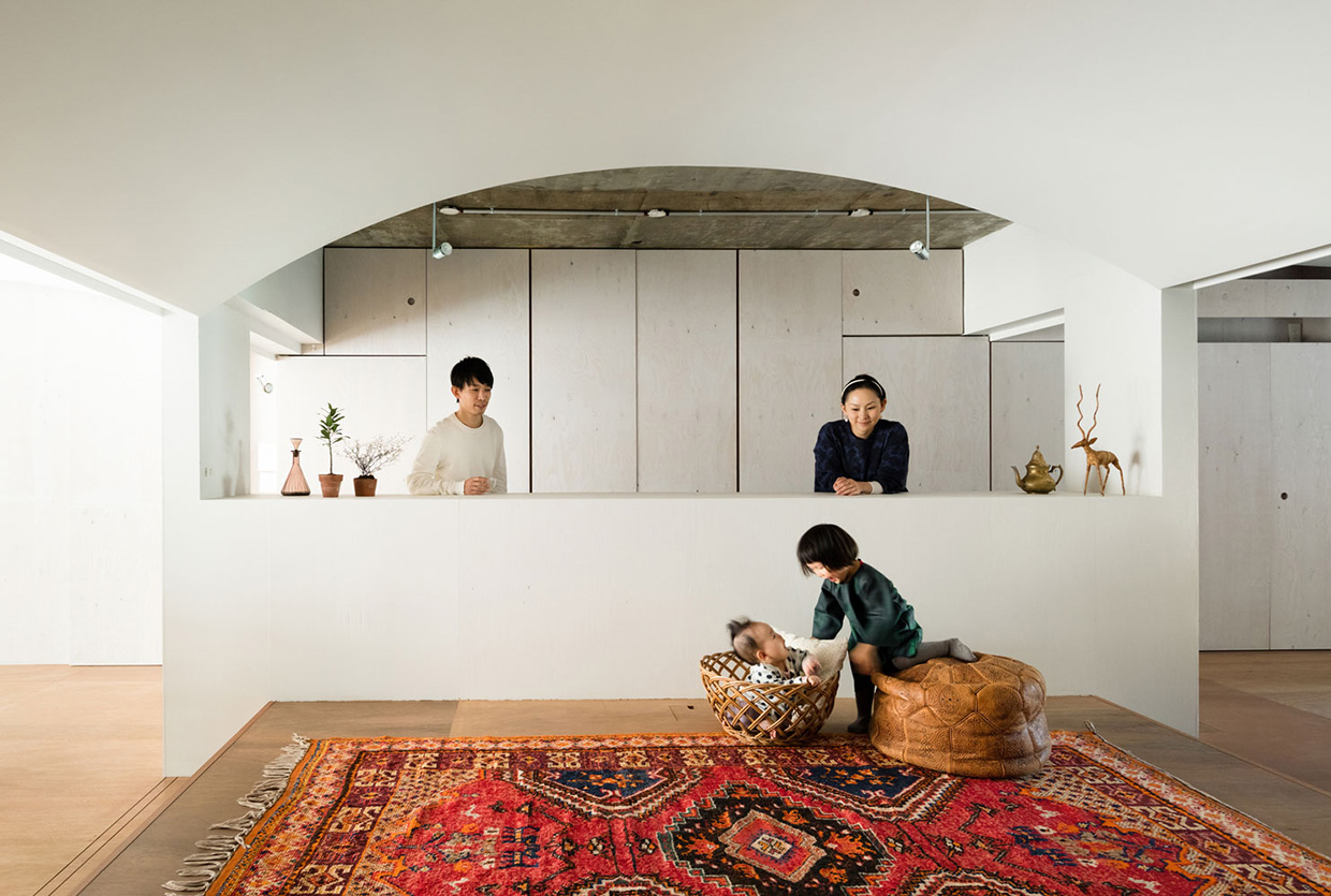 Team living house in tokyo by masatoshi hirai architects for Apartment japan design