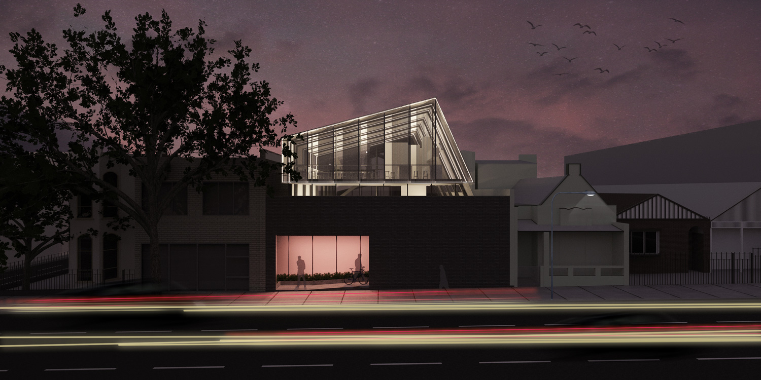 121 Hoddle Street Night Render by Ha | Yellowtrace