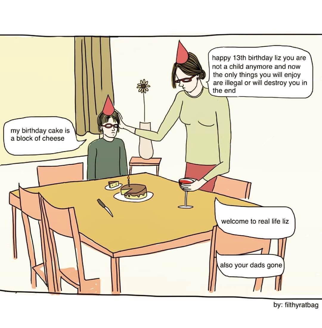 Witty Illustrations by Celeste Mountjoy, aka Filthyratbag | Yellowtrace